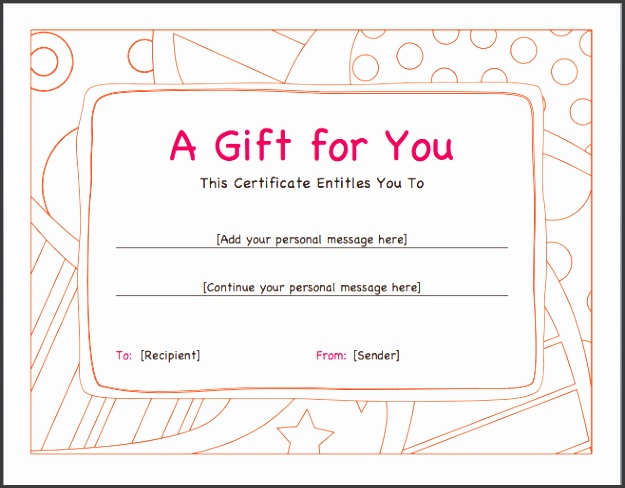 Gift Voucher Template DOC