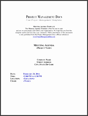 Project Meeting Agenda Template Project Meeting Agenda Template