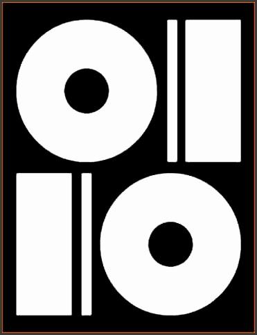 6 memorex dvd label template