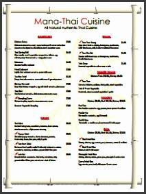 Restaurant Menu Template Free Download Create Edit Fill and Print