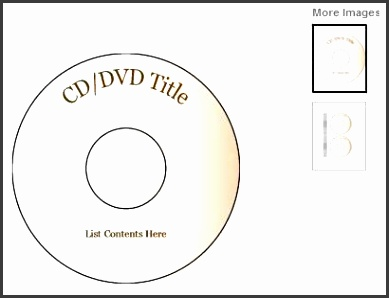 ms word cd template