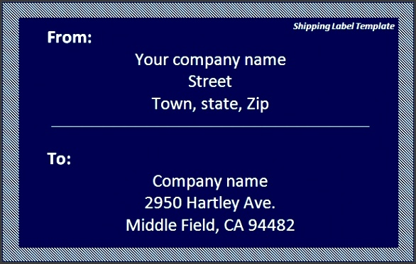 Shipping Label Template Download Template
