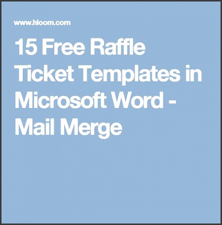 15 Free Raffle Ticket Templates in Microsoft Word Mail Merge microsoft word shipping label