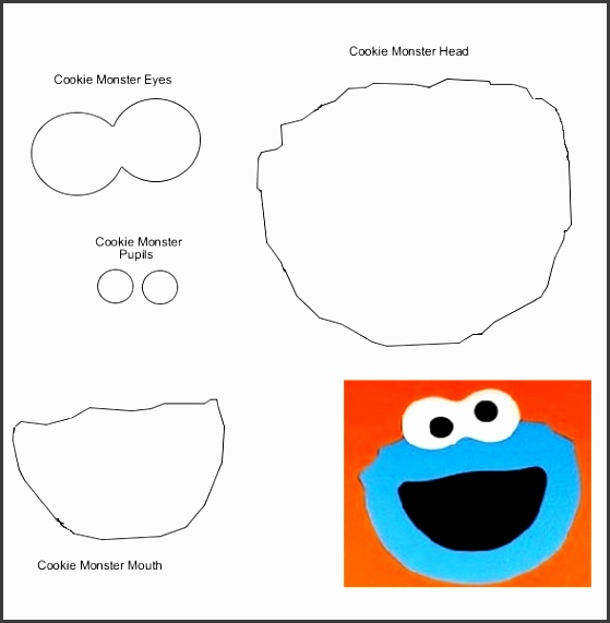 Sesame Street Party Masks Cookie Monster Monsters And Template