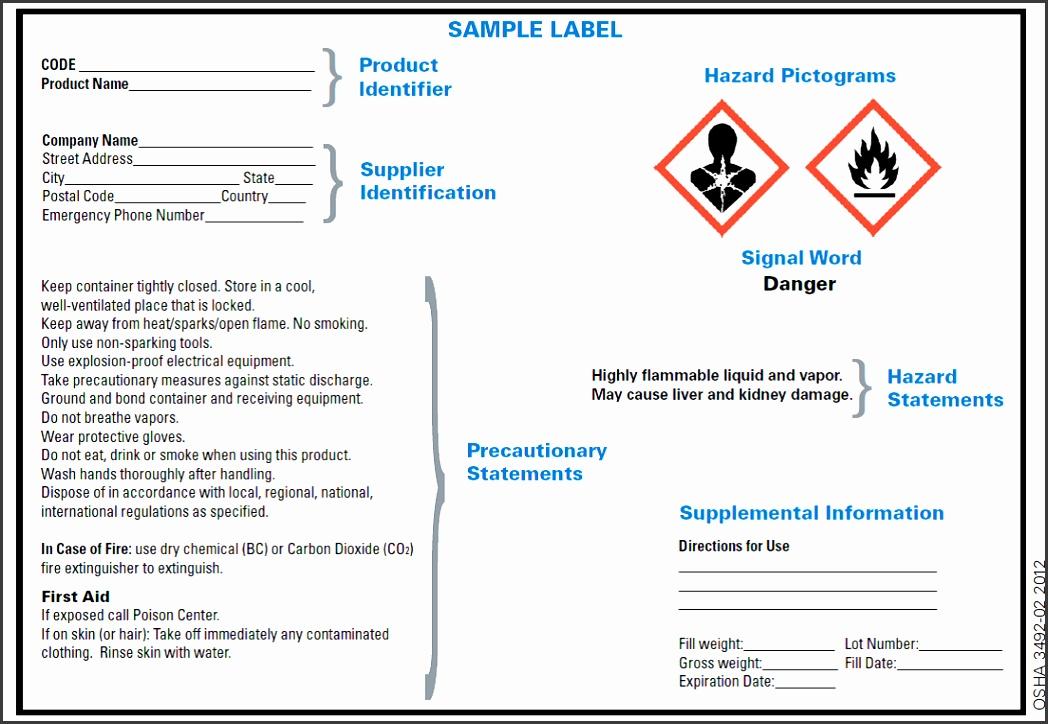 GHS Sample Label OSHA