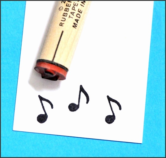Rubber Stamp Musical Note Template Download