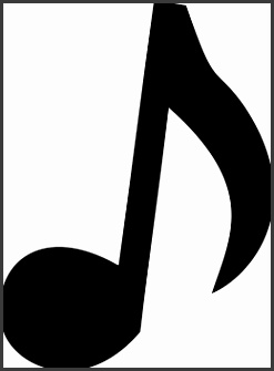 Music Notes Template Cut Outs
