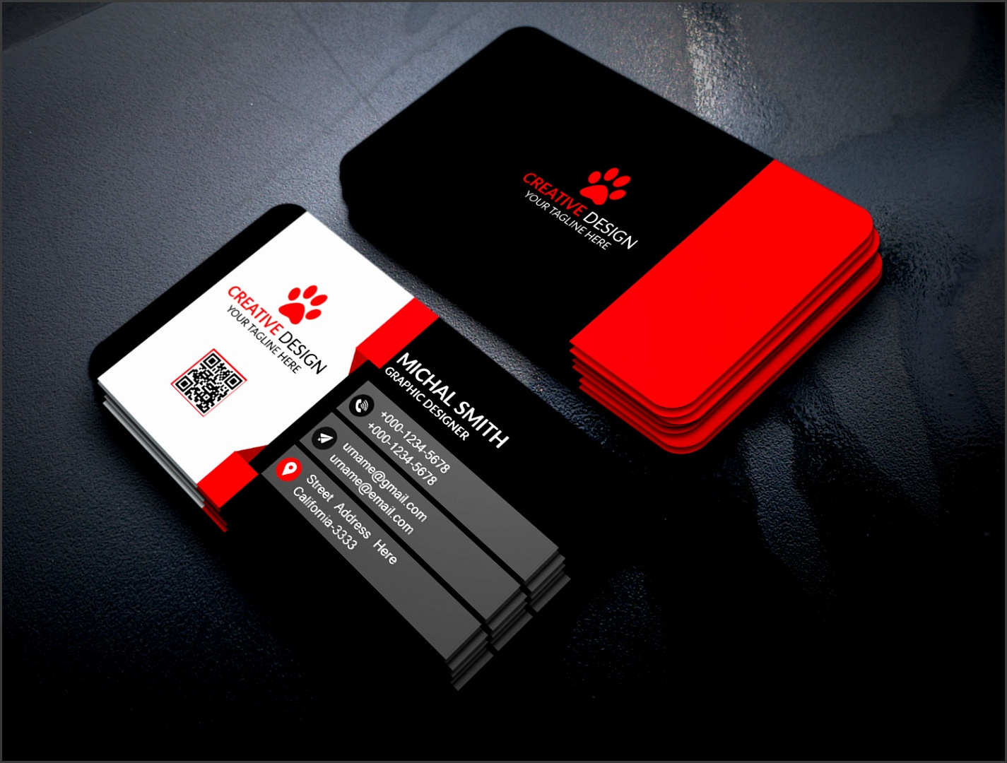 Free Psd Visiting Card Templates Download