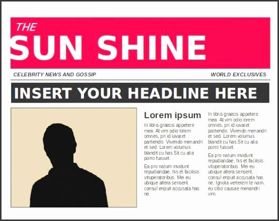 Newspaper Article Template