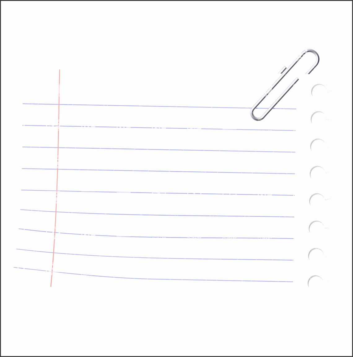 Notebook paper sheet and paperclip Royalty Free Vector Clip Art