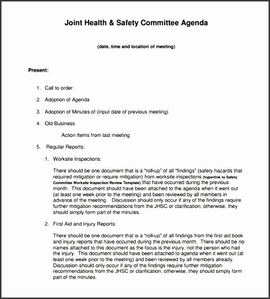 Agenda Meeting Template
