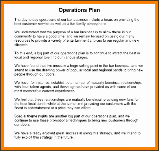 operational plan template free operational plan sample 7 operational