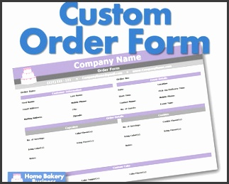 Cake Cupcake and Cookie Decorating Business Printable Order Form Receipt Template