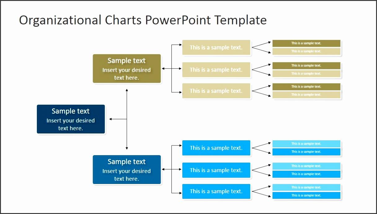 PPT Org Chart Horizontal Diagram