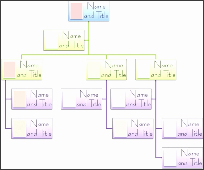 Blank Organizational Chart Template for Word