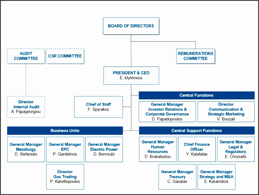 the strategy of the pany and also provides a framework of reference for all relationships and roles that arise in connection with the coordination
