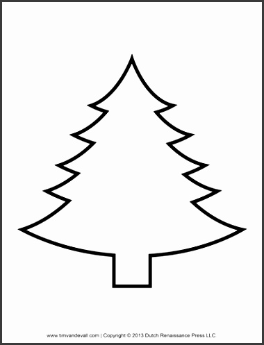 Christmas Tree Template for Bunting