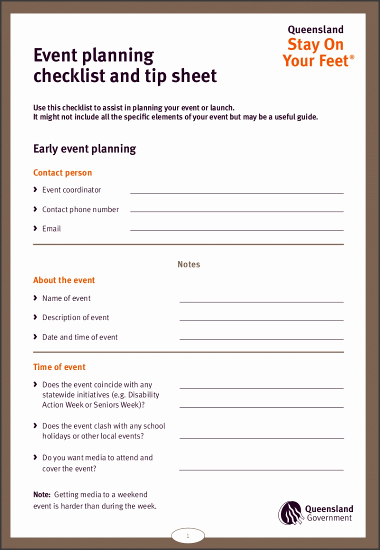 Event Planning Checklist Sample in PDF