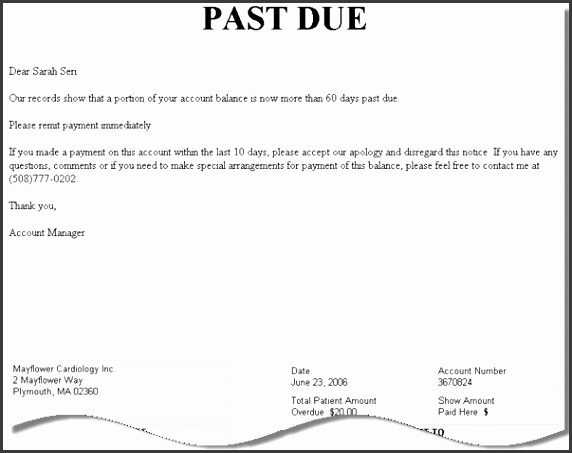 10 past due letter template