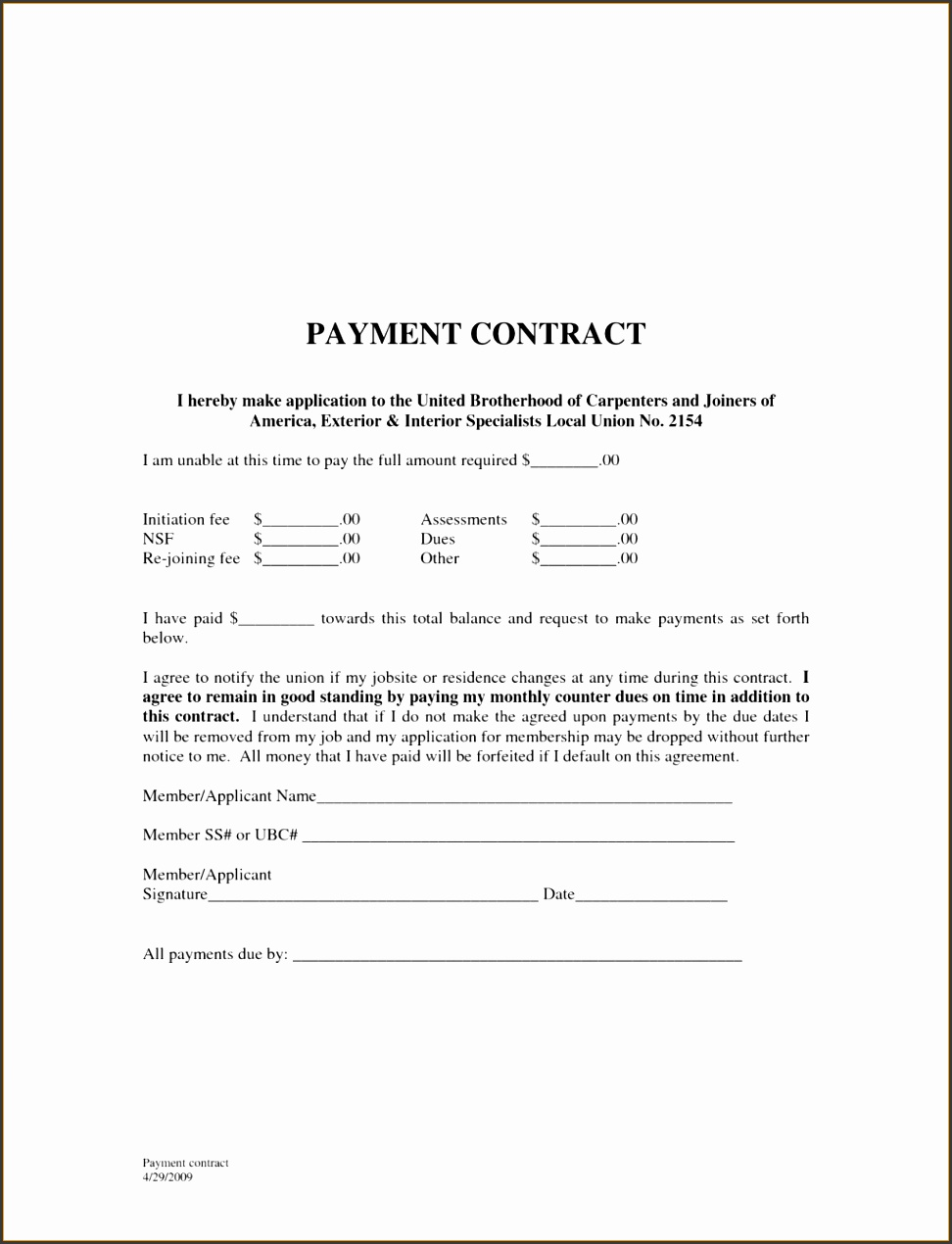 Payment Agreement Template Loan Settlement Letter For Car Accident Hire