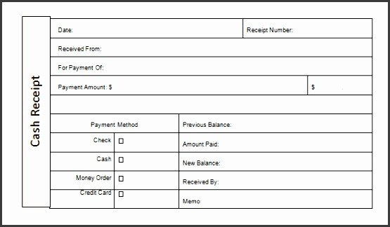 Money Receipt Template Doc Free Download