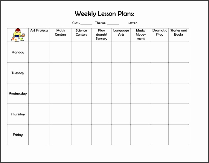 Sample High School Lesson Plan Template For Elementary Teachers This Weekly Lesson Plan Template Covers Six Subjects Over Five School Days Best Weekly