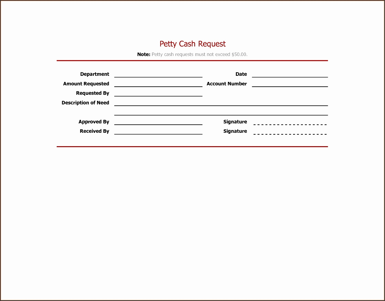 Petty Cash Expense Report Template New 13 Excel Receipt Template