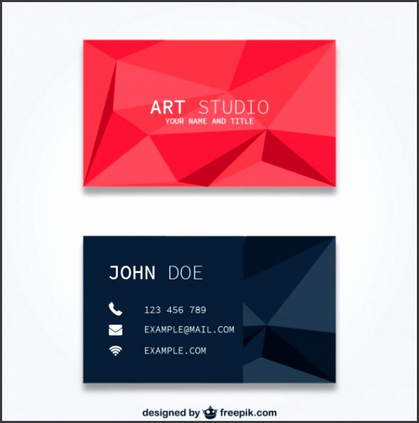 Polygonal business card templates Free Vector