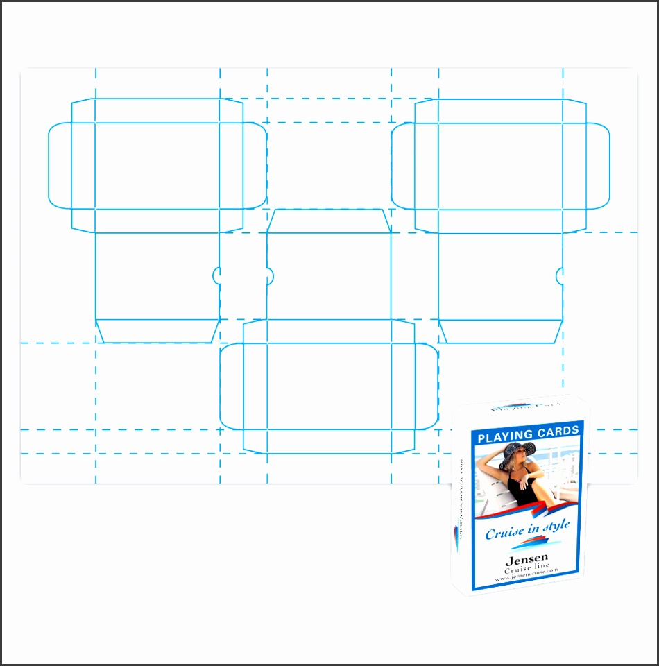Latest Playing Cards Box Template size