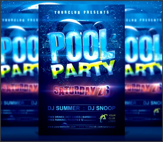 Free Pool Party Flyer Templates Pool Party Invitation Template Premium Downl Pool Party Flyers Free