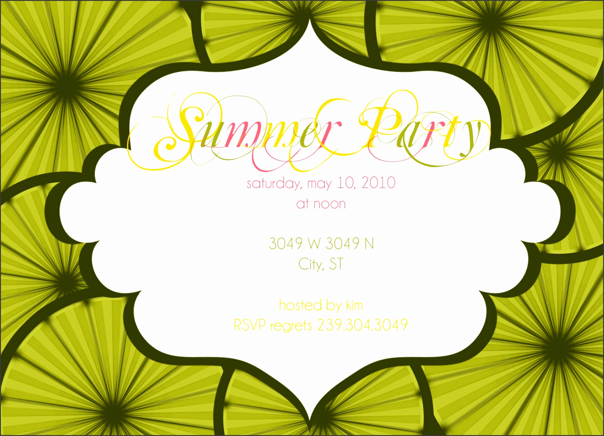 summer pool party invitation templates summer party invitation wording samples