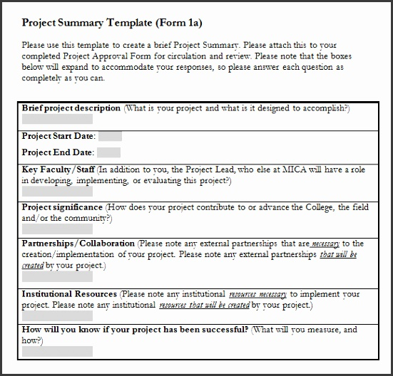 project summary template word project summary template 28 images 7 project summary templates