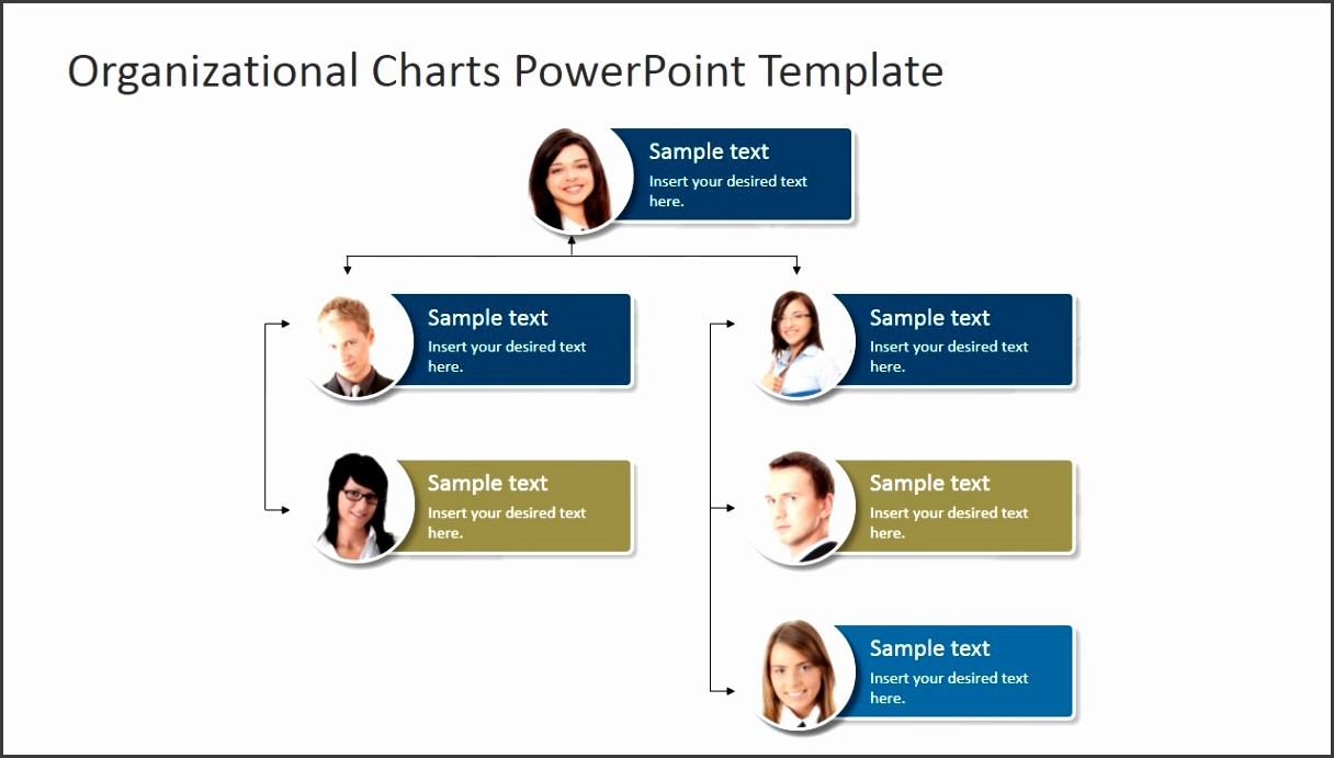 PowerPoint Template Organizational Chart