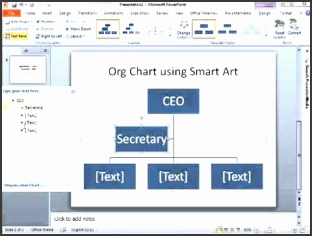 How to make an Org Chart in PowerPoint 2010 using SmartArt