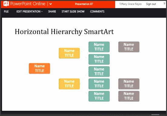 Organizational Chart Template for PowerPoint line