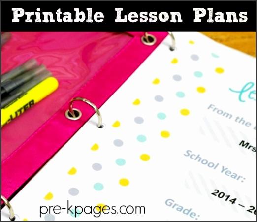 Digital Lesson Plan Binder for Preschool and Kindergarten