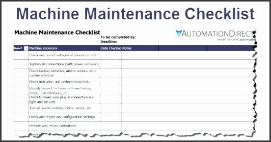 preventive maintenance schedule electrical preventive maintenance schedule format