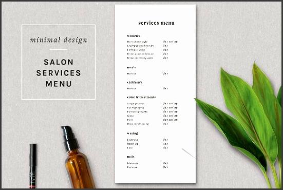 Modern Salon Price List Template Flyers