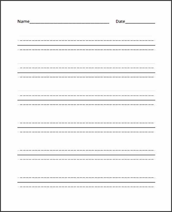 Primary School Lined Paper