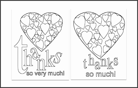 Gallery of Top Printable Thank You Card Template
