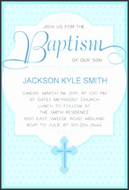 Free Printable Baptism & Christening Invitation Dotted blue