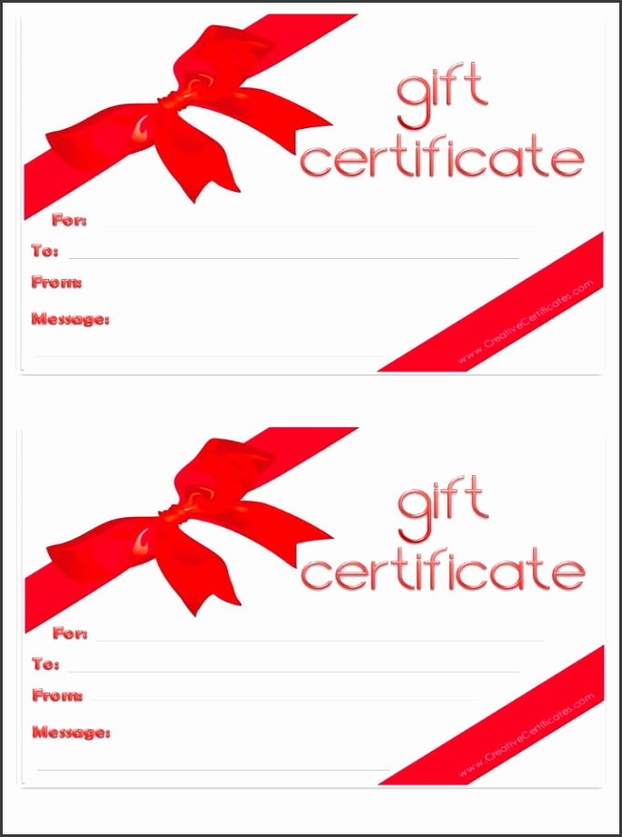 9 Printable Christmas Gift Certificates Templates Free ...