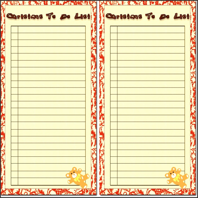 Free Printable To Do Lists 20 Free printable checklist templates