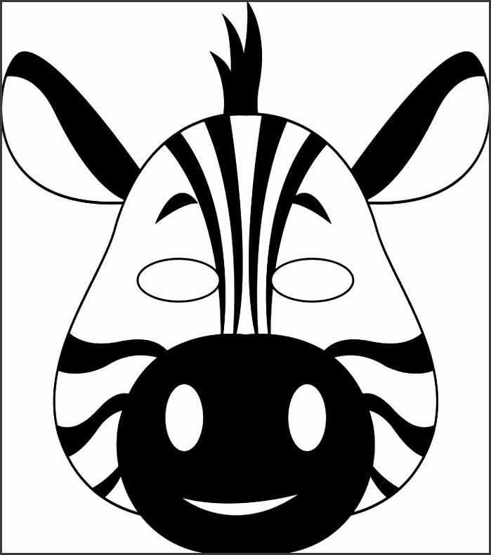 Mask clipart zebra 4