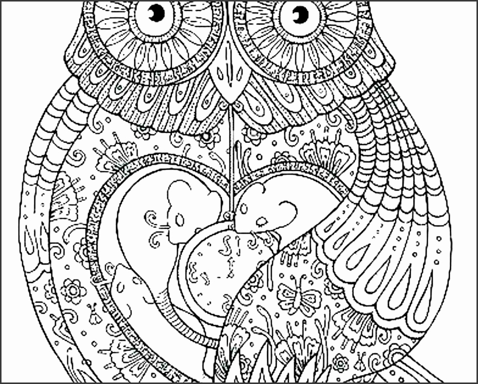 Artistic Owl Pattern Feather Template Printable Mask Writing Paper Free Full Size