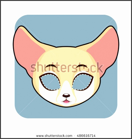 Fennec Fox mask for Halloween and other festivities