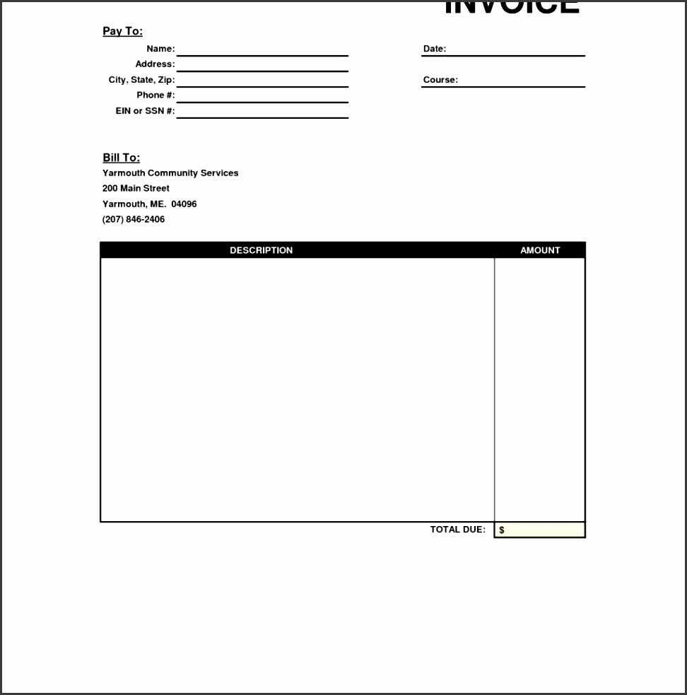 Printable Invoices Free Template SampleTemplatess - Free template for invoices