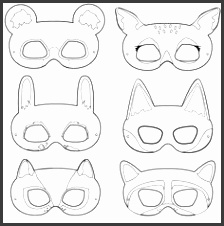 Forest Animal Masks Printables