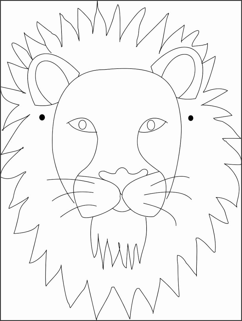3386 Face mask Lion