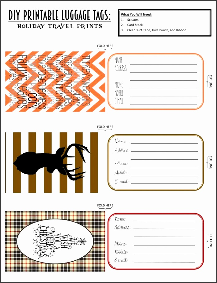 Top Best Printable Luggage Tags Ideas Kids